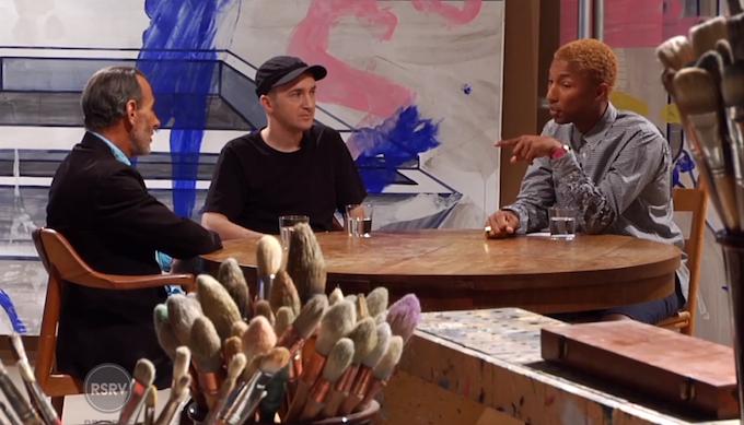 Pharrell Williams Interviews David Salle & KAWS | ARTST TLK [WEBSERIES.]